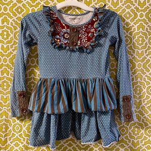 Like New! Adorable Mustard Pie tiered dress 6